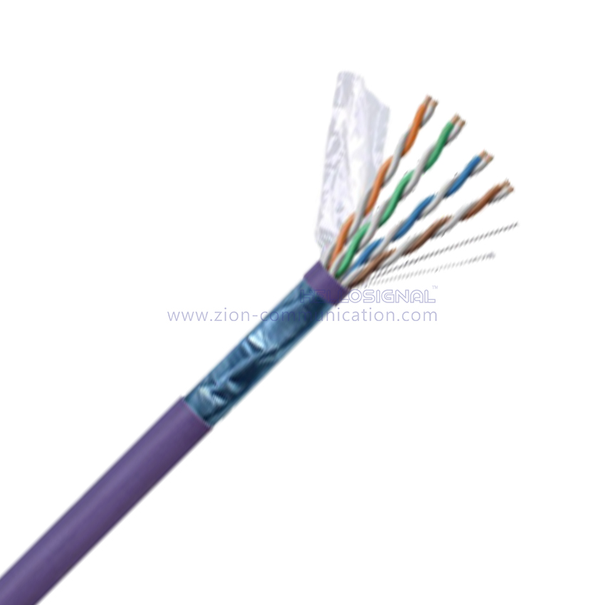 F/UTP Dual Jacket CAT 6A BC LSZH Twisted Pair Installation Cable