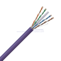U/UTP CAT 6A BC PVC Twisted Pair Installation Cable