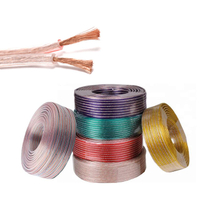 FlexibleLOUD SPEAKER CABLE # 14 16 18 20 22 with transparent pvc, golden&silver color conductor copper Tinned copper or CCA