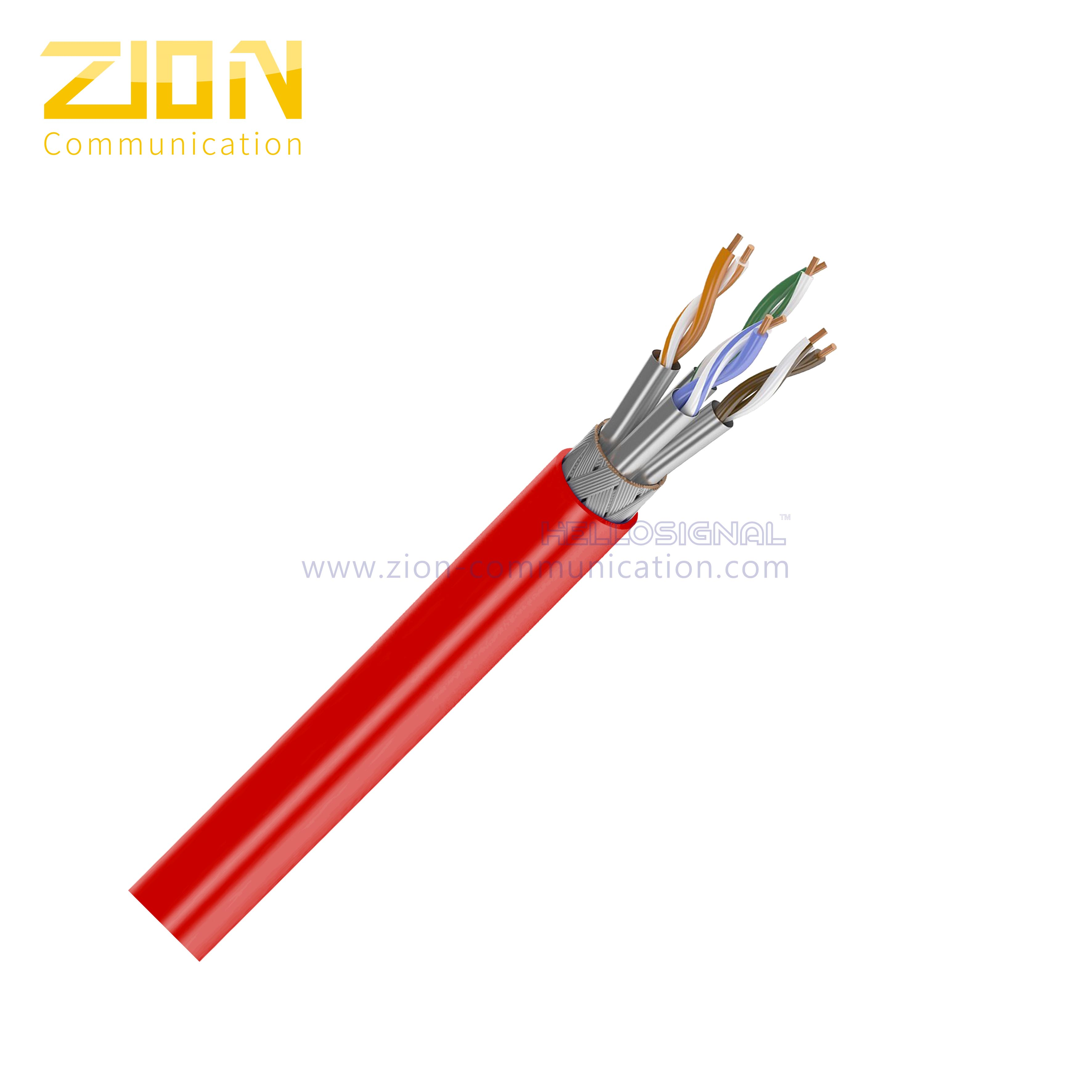 S/FTP CAT 7A BC PVC CMP Twisted Pair Installation Cable